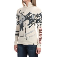 Neve Chamonix Shirt - Silk-Merino Wool, Zip Neck, Long Sleeve (For Women) in Print - Closeouts