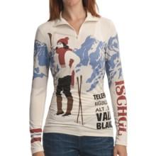 Neve Chamonix Shirt - Stretch Merino Wool-Silk, Zip Neck, Long Sleeve (For Women) in Chamonix - Closeouts