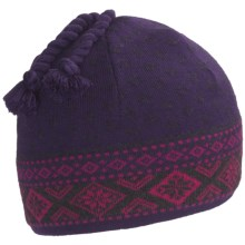 Neve Claire Hat - Ultrafine Merino Wool (For Women) in Grape - Closeouts
