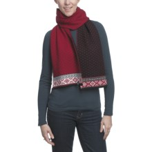 Neve Claire Scarf - Ultrafine Merino Wool (For Women) in Black - Closeouts