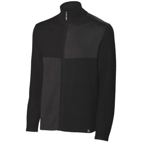 Neve Cole Cardigan Sweater - Full Zip (For Men) in Cobalt