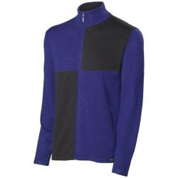 Neve Cole Cardigan Sweater - Full Zip (For Men) in Cobalt