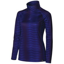 Neve Couloir Base Layer Top - Zip Neck, Long Sleeve (For Women) in Couloir Print - Closeouts