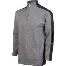 Neve Drew Sweater - Merino Wool, Zip Neck (For Men) in Sterling - Closeouts