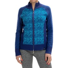 Neve Eloise Cardigan Sweater - Merino Wool, Full Zip (For Women) in Aquamarine - Closeouts