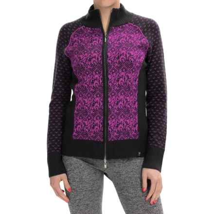 Neve Eloise Cardigan Sweater - Merino Wool, Full Zip (For Women) in Blossom - Closeouts