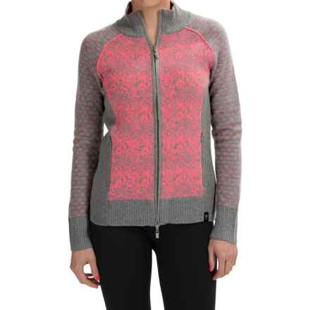 Neve Eloise Cardigan Sweater - Merino Wool, Full Zip (For Women) in Tango - Closeouts