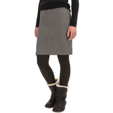 Neve Eloise Diamond-Patterned Skirt - Merino Wool (For Women) in Black - Closeouts