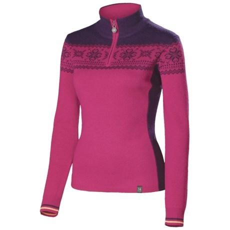 Neve Emily Ultrafine Merino Wool Sweater (For Women) in Grape