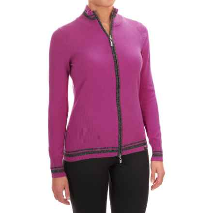 Neve Emma Wool Cardigan Sweater - Full Zip (For Women) in Blossom - Closeouts