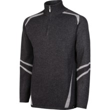 Neve Ethan Sweater - Merino Wool, Zip Neck (For Men) in Sterling - Closeouts