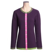 Neve Fergie Polka-Dot Cardigan Sweater - Lambswool (For Women) in Wisteria - Closeouts