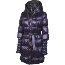 Neve Fiona Hooded Long Down Coat - 600 Fill Power (For Women) in Eggplant - Closeouts
