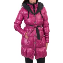 Neve Fiona Hooded Long Down Coat - 600 Fill Power (For Women) in Plum - Closeouts