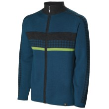 Neve Gabe Cardigan Sweater - Merino Wool (For Men) in Blue Spruce - Closeouts