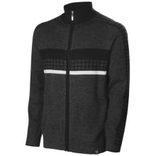 Neve Gabe Cardigan Sweater - Merino Wool (For Men) in Charcoal - Closeouts