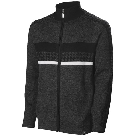 Neve Gabe Cardigan Sweater - Merino Wool (For Men) in Charcoal