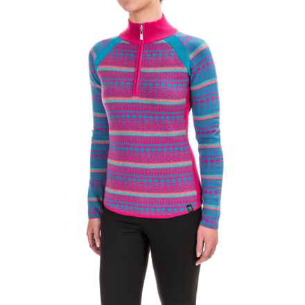 Neve Gemma Sweater - Merino Wool, Zip Neck (For Women) in Blossom - Closeouts
