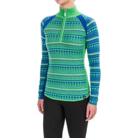 Neve Gemma Sweater - Merino Wool, Zip Neck (For Women) in Ocean - Closeouts