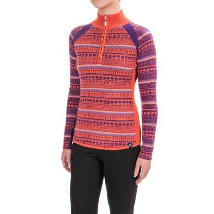 Neve Gemma Sweater - Merino Wool, Zip Neck (For Women) in Orangina - Closeouts