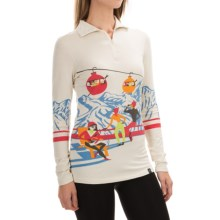 Neve Gondola Sweater - Silk-Merino Wool, Zip Neck (For Women) in Gondola Print - Closeouts