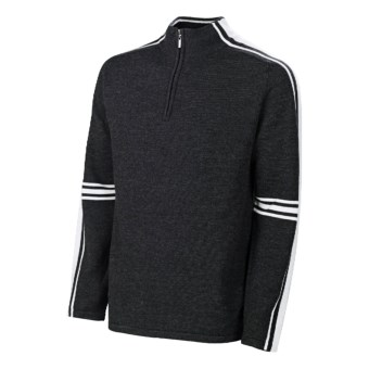Neve Gordon Sweater - Merino Wool, Zip Neck (For Men) in Snow