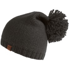 Neve Grace Beanie Hat - Wool Blend (For Women) in Charcoal - Closeouts