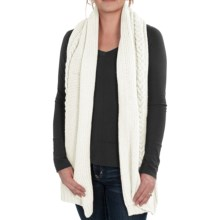 Neve Grace Cable-Knit Scarf - Wool-Blend (For Women) in White - Closeouts