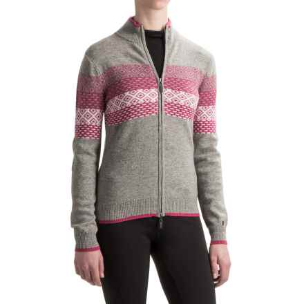 Neve Grace Cardigan Sweater - Merino Wool (For Women) in Fuschia - Closeouts