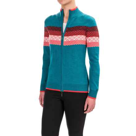 Neve Grace Cardigan Sweater - Merino Wool (For Women) in Indigo - Closeouts