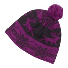 Neve Hazel Beanie Hat - Merino Wool (For Women) in Grape - Closeouts