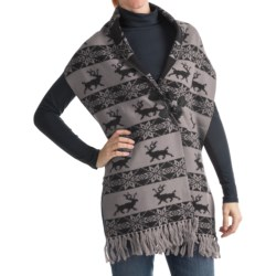 Neve Hazel Shawl - Merino Wool (For Women) in Black
