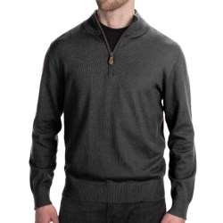 Neve Henry Sweater - Zip Neck (For Men) in Midnight