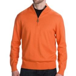 Neve Henry Sweater - Zip Neck (For Men) in Marigold