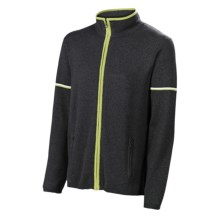 Neve Ian Cardigan Sweater - Cotton-Merino Wool (For Men) in Charcoal - Closeouts