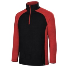 Neve Independence Base Layer Top - Zip Neck, Long Sleeve (For Men) in Red/Black - Closeouts