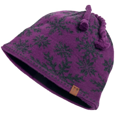 Neve Ingrid Beanie Hat - Merino Wool (For Women) in Amethyst