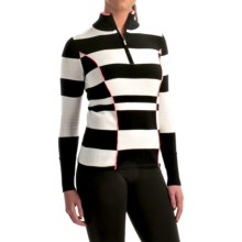 Neve Izzy Sweater - Merino Wool, Zip Neck (For Women) in Black - Closeouts