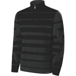 Neve Jackson Zip Neck Sweater (For Men) in Black