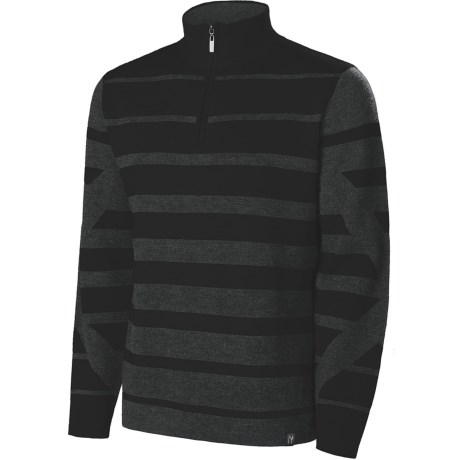 Neve Jackson Zip Neck Sweater (For Men) in Sprout