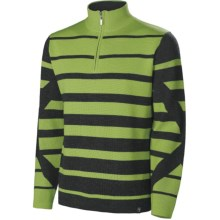 Neve Jackson Zip Neck Sweater (For Men) in Sprout - Closeouts