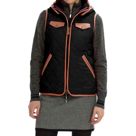 Neve Jett Quilted Hooded Vest (For Women) in Black - Closeouts