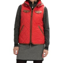 Neve Jett Quilted Hooded Vest (For Women) in Vermillon - Closeouts