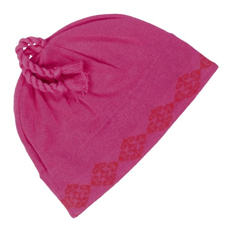 Neve Jodi Beanie Hat - Combed Cotton (For Women) in Pink
