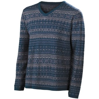 Neve Johan Sweater - Merino Wool (For Men) in Blue Spruce