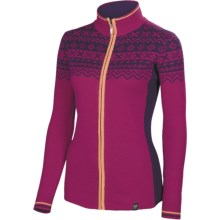 Neve Josephine Ultrafine Merino Wool Zip Sweater (For Women) in Raspberry - Closeouts