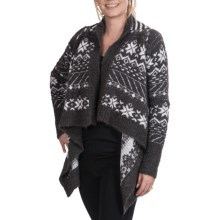 Neve Katherine Wrap Cardigan Sweater - Merino Wool-Alpaca (For Women) in Charcoal - Closeouts