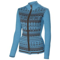 Neve Kay Ultrafine Merino Wool Zip Sweater (For Women) in Sea