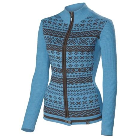 Neve Kay Ultrafine Merino Wool Zip Sweater (For Women) in Sea