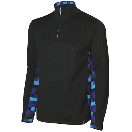 Neve Landen Sweater - Zip Neck (For Men) in Black